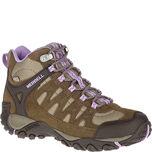 cf57a502791 Merrell Women's Accentor Mid Waterproof Hiking Boots, Stone, Orchid ...