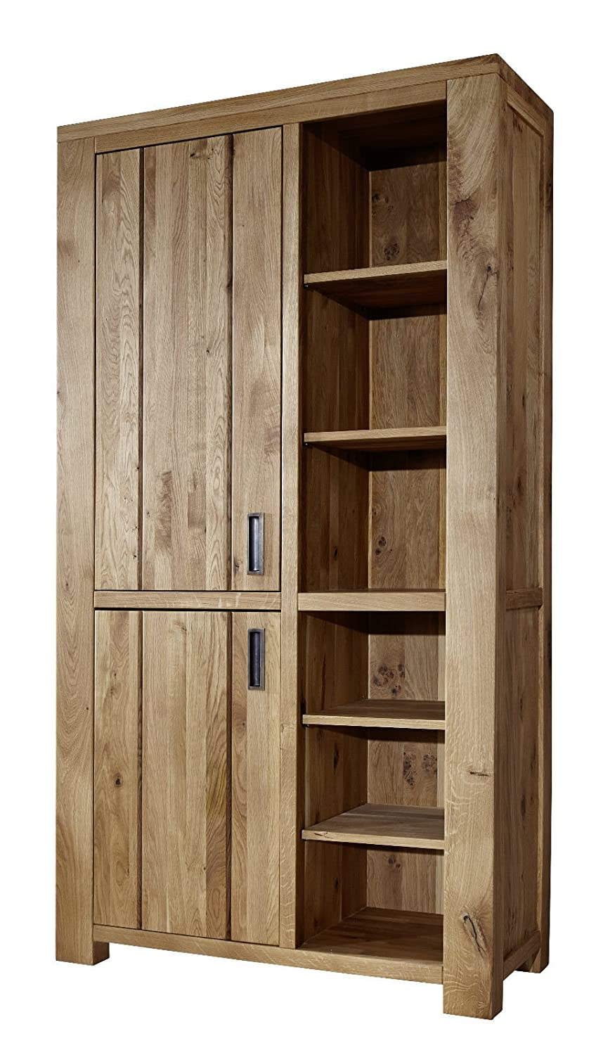 regal schrank b cherregal wildeiche massiv eiche holz. Black Bedroom Furniture Sets. Home Design Ideas