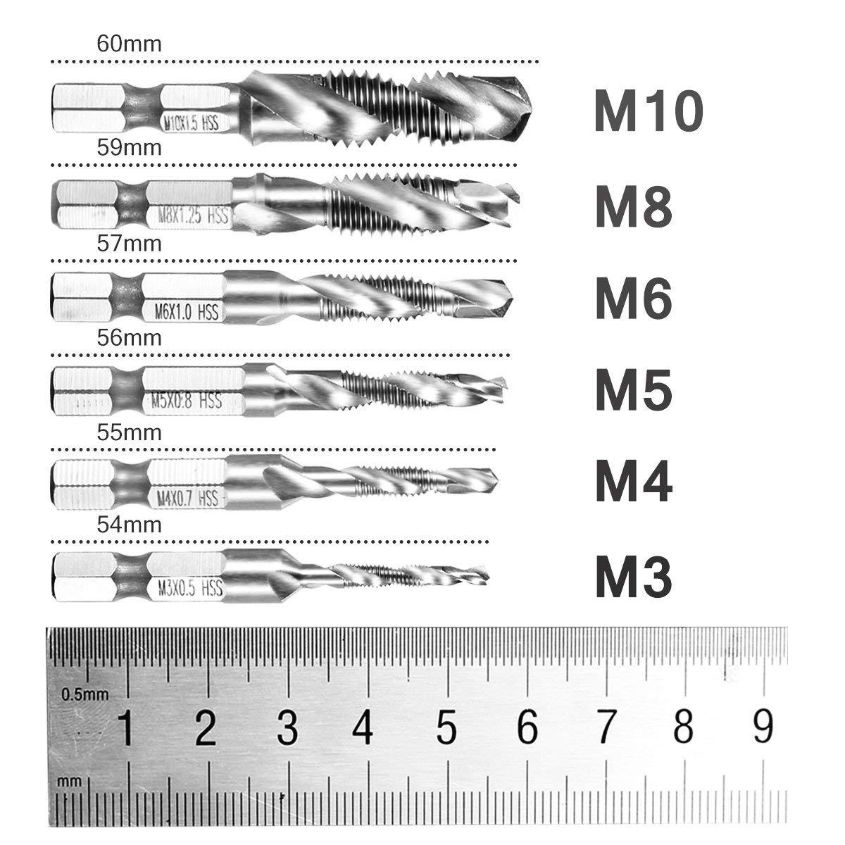 8 teilig Stecknussadapter Akkuschrauber Stecknuss Adapter Socket Steckschl/üssel Nuss Set f/ür Bithalter +rechtwinklig Treiber Winkel Verl/ängerung Power Schraubendreher Bohrmaschine 1//4,3//8,1//2 Zoll