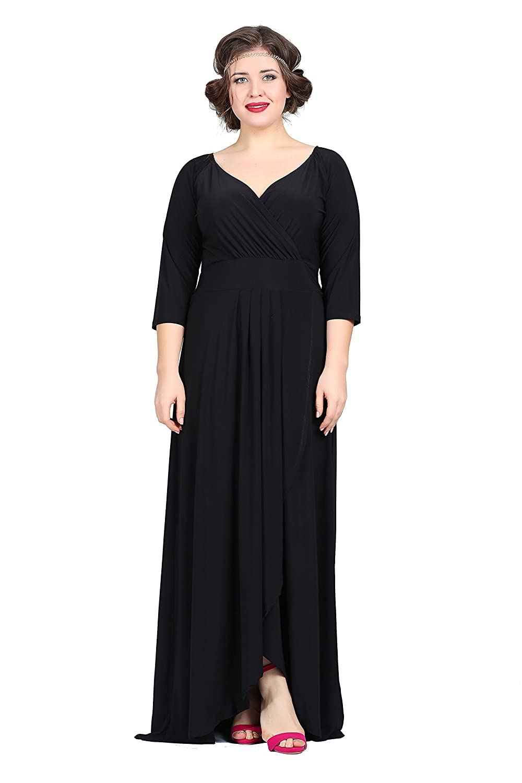 Damen Designer Ballkleid Abendkleid Wickelkleid Wickelstyle Empire ...