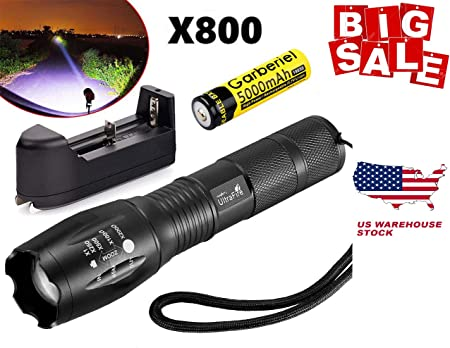 2x Tactical 15000LM Zoomable T6 LED Waterproof Aluminum Flashlight Torch Light