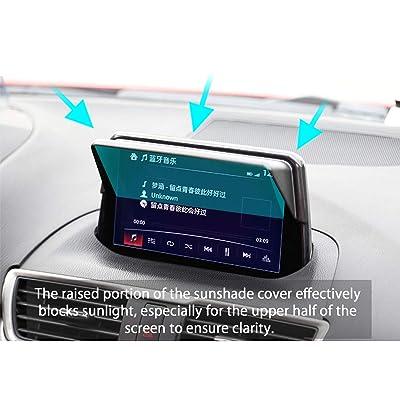 LFOTPP Mazda CX-3 2016-2020 2020 Vehicle Navigator Sunshade Visor, Mazda Glare Vision Shield, GPS Navigation Sun Hood Anti Reflective,Block Sunlight Block Sun Glare: Automotive