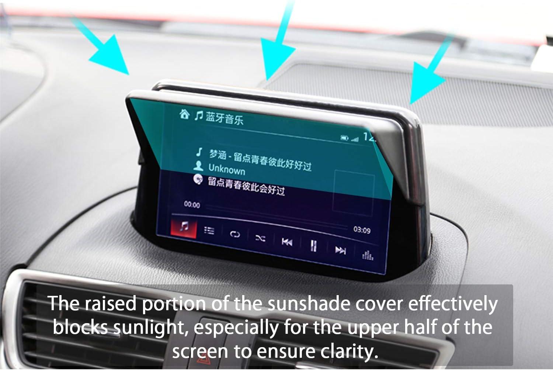 LFOTPP 2017-2018 Mazda3 Mazda Axela Vehicle Navigator Sunshade Visor,Glare Vision Shield Mazda 3 GPS Navigation Sun Hood Anti Reflective Block Anti-Glare
