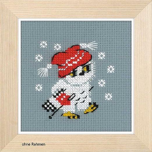 Riolis – Juego de Punto de Nieve, algodón, Multicolor, 9 x 9 x 0.1 ...