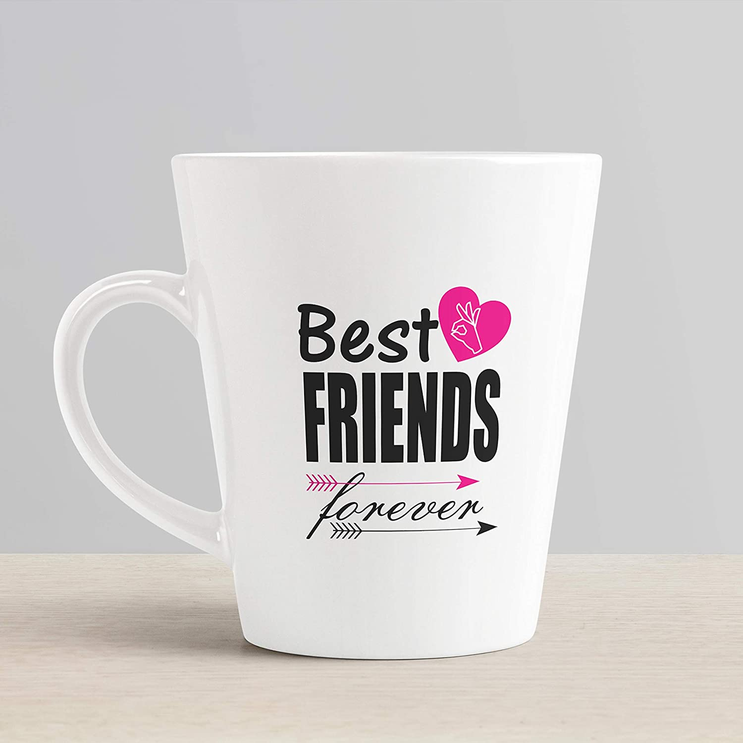 Buy Ikraft Friendship Quotes Conical Coffee Mug Best Friends Forever Printed Tea Cup Gift For Best Friend Online At Low Prices In India Amazon In