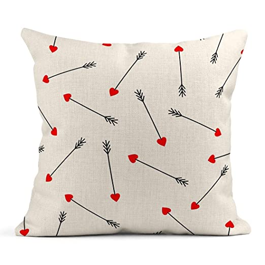 Cojín Corazón Rojo Cupido Flechas en Lindo para el Día de ...