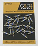 Pack of (25) CD4460 Schrader Valve Cores with Teflon Seal (blue)