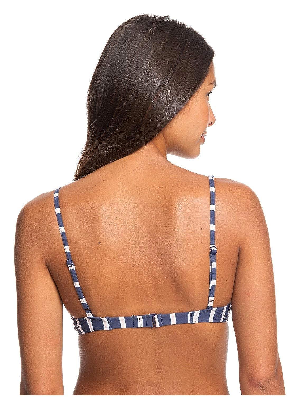 Roxy Womens Printed Beach Classics Underwired Elongated Tri Bikini Top for Women