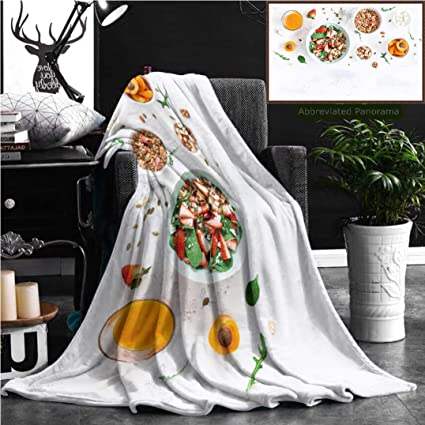 Amazon Unique Custom Flannel Blankets Breakfast With Muesli Adorable Custom Throw Blankets From Photo