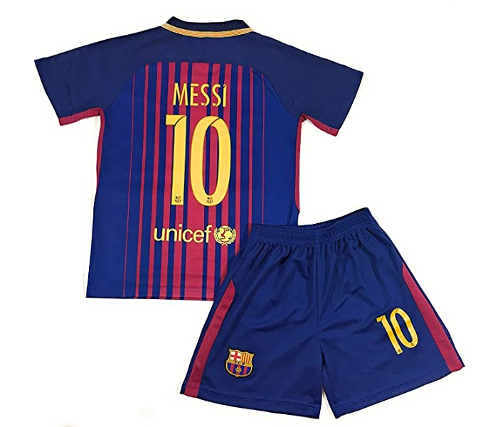 fcd212b25ea Image Unavailable. Image not available for. Color  Doug-thinks Messi  10  2017-2018 New Barcelona Home Kids Or Youth Jersey