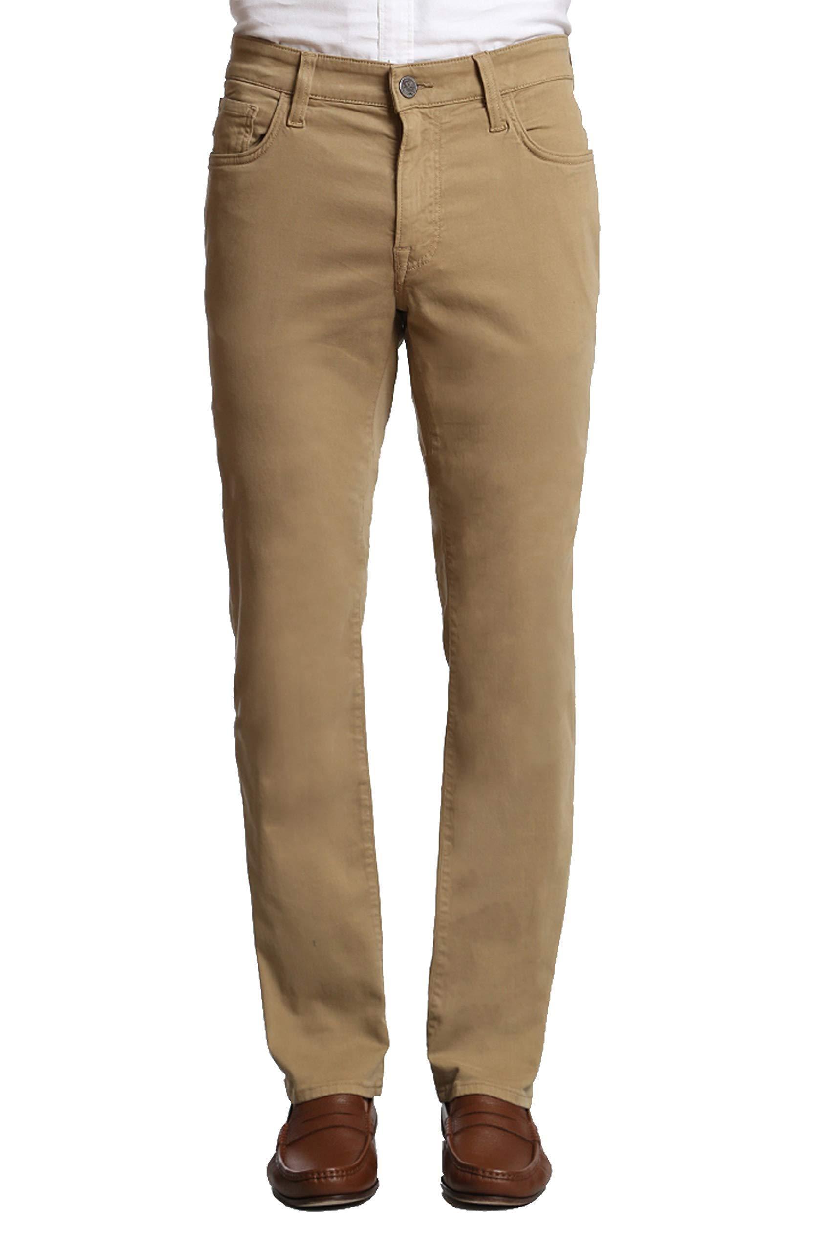 34 Heritage Men's Courage Straight Pants, Khaki Twill 36 x 30