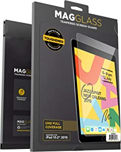 MagGlass iPad 7th Generation Screen Protector 10.2 inch (UHD) Ultra Clear Tempered Glass, Anti-Scratch Bubble Free Screen Guard (Apple 2019/2020)