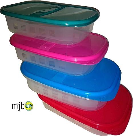 Mjb - Set de 4 recipientes de almacenamiento de alimentos ...