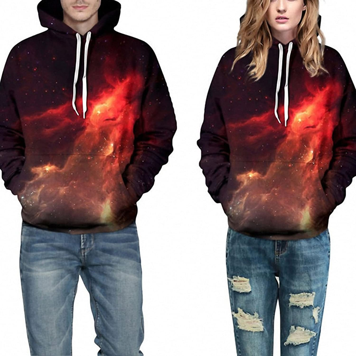 Crochi Series Space Galaxy Sweatshirt Hoodies 3D Print Hip Hop Coats Casual Sweat Shirt Men Women Hooded Tops Plus Size at Amazon Mens Clothing store: