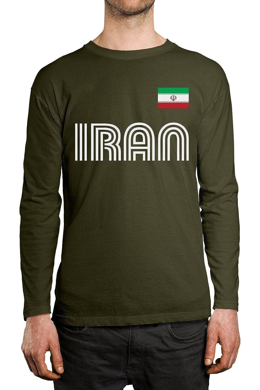 fe6eee8e634 SpiritForged Apparel Iran Soccer Jersey Mens Long Sleeve Shirt IRA-01   MENSLONG- P