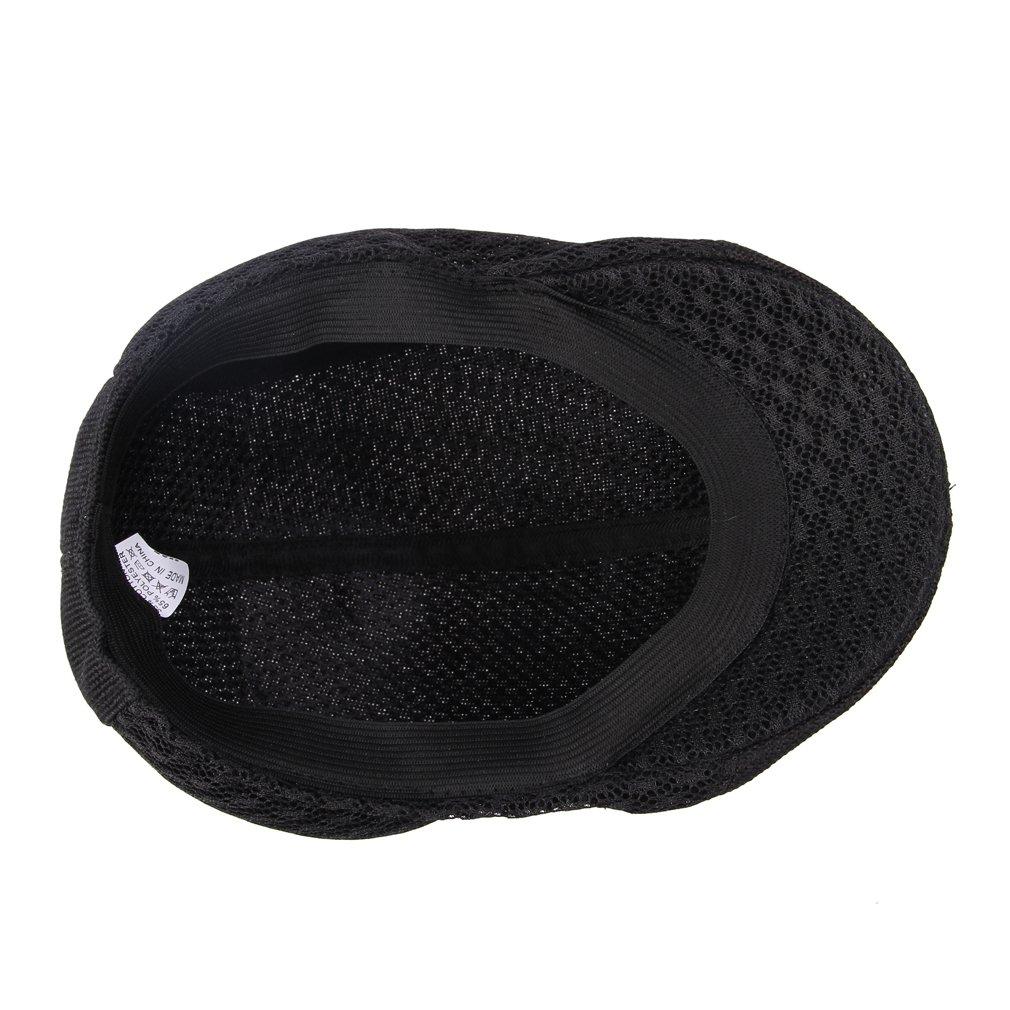 JTC Mesh Cotton Ivy Cap Driver Hat Black
