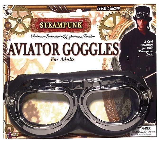 f93fbe4cfa Adulto Victoriano Piloto Gafas Accesorio Disfraz Steampunk Aviador Gafas:  Amazon.es: Ropa y accesorios