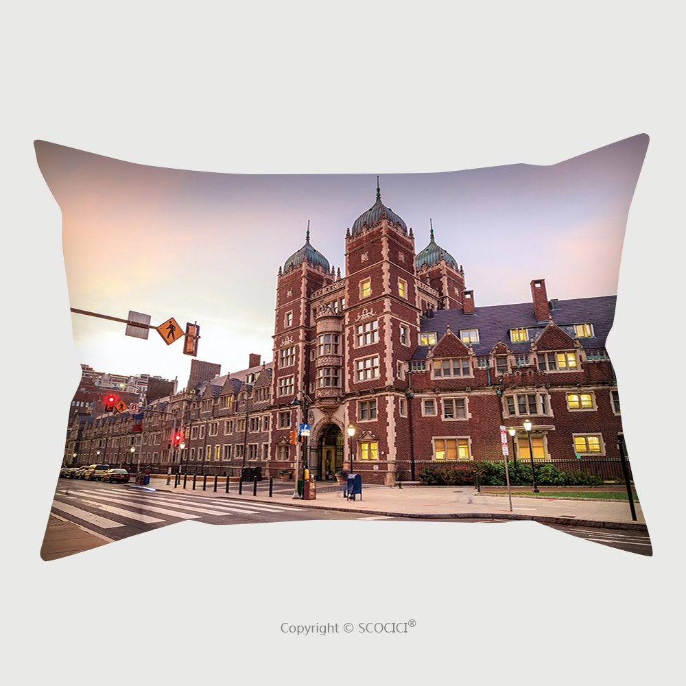 Custom Satin Pillowcase Protector Very Old Building In University Of Pennsylvania In Philadelphia Pennsylvania 345290033 Pillow Case Covers Decorative by chaoran