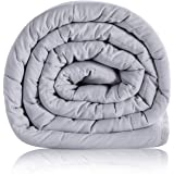 Bedsure Kids Weighted Blanket 5lb 36X48 inch ,100% Cotton ,Machine Washable - Light Grey