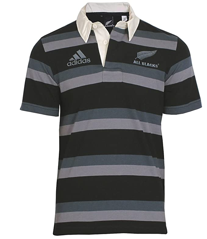 adidas Camiseta All Blacks 16th Polo Polo de Negro Gris Negro ...
