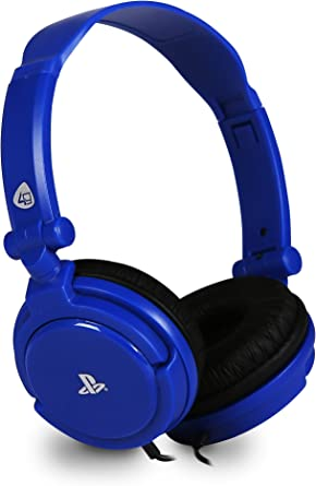 4Gamers - Pro 4-10 Auricular Estéreo Licenciado, 40Mm De Diámetro, Micrófono Flexible, Azul (PS4): Amazon.es: Videojuegos