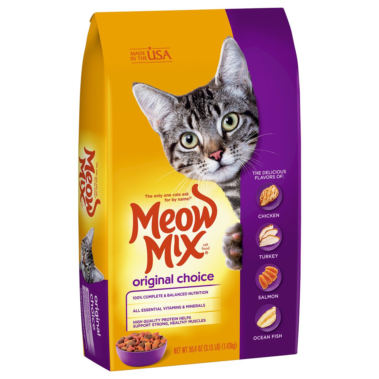 Meow Mix Original Choice Dry Cat Food, 16 lb