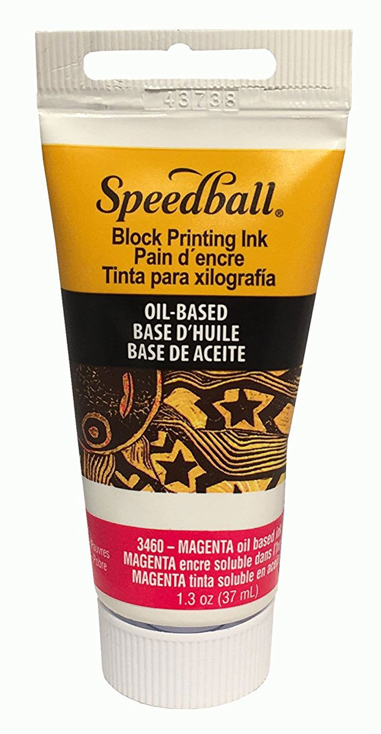 Speedball Oil Block Prtg Ink 37Cc Magenta by Speedball B000SKT0SU