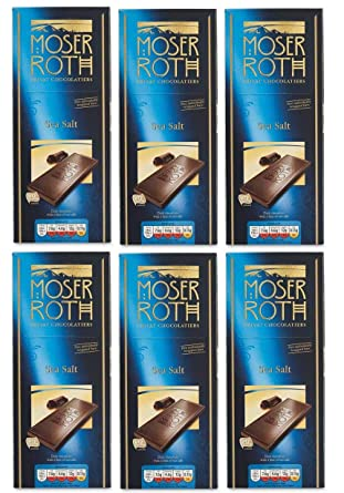 Moser Roth Sea Salt Dark Chocolate Bar 125g X 6 30