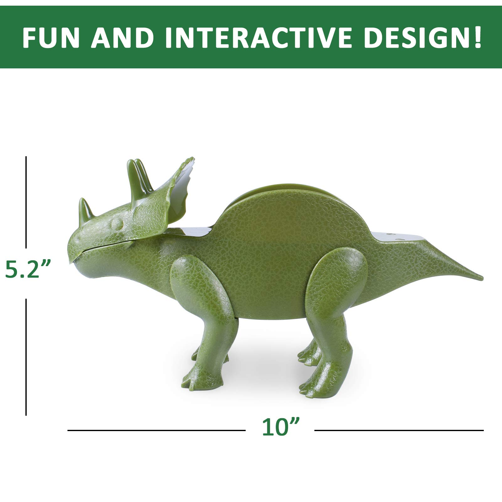 Dinosaur Taco Holder Set Triceratops Taco Holder Stand Shell Double-Slotted Kids Dino Taco Holders 10 x 5.5\