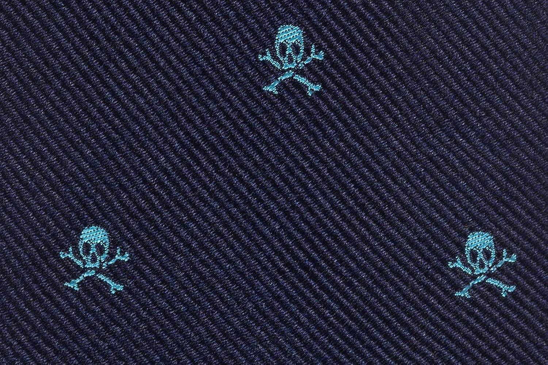 SoloGemelos - Corbata De Seda Azul Con Calaveras - Azul, Turquesa ...