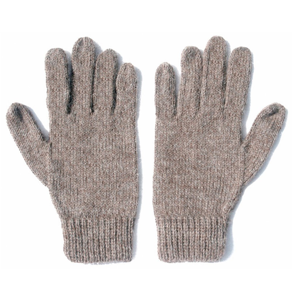 100/% Alpaca Wool Knit Gloves Lt Rose Gray The Alpaca Collection