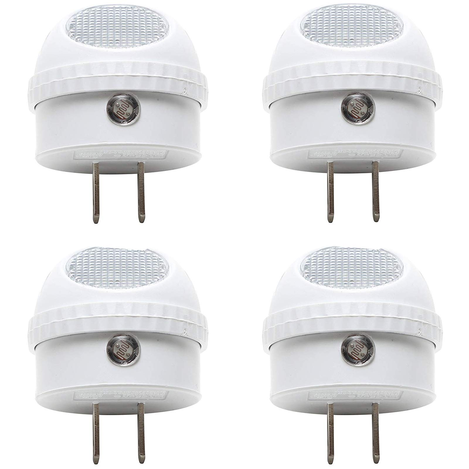 ClearMax 4 Pack LED Night Light with Built-in Dusk to Dawn Sensor - Soft White - Type A Plug - 0.3W AC 125V 2700K … by ClearMax
