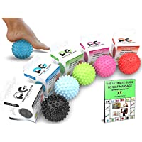Physix Gear Massage Balls - Spiky or Lacrosse Ball Roller Set for Plantar Fasciitis, Trigger Points Neck & Back Ache…