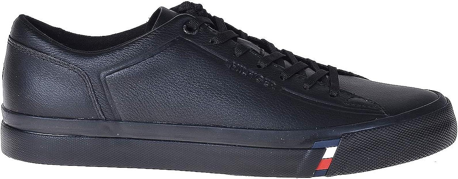 Tommy Hilfiger Corporate Leather Sneaker, Scarpe da Ginnastica Basse Uomo