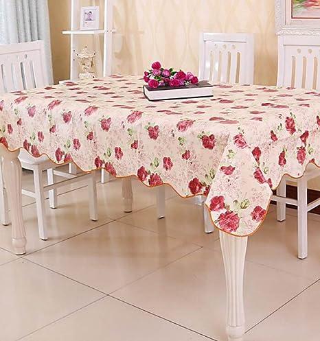 Moine Tang Jardín Flores Agua Aceite Plástico Tela De Mesa PVC Mantel Desechable,A-137×183cm: Amazon.es: Hogar