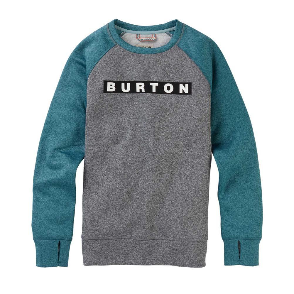 Burton Women's Oak Crew Sweatshirt, Gray Heather/Hydro Heather, Small by Burton