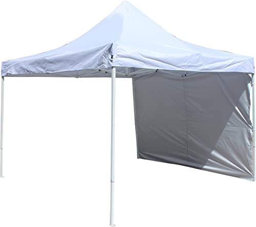 ALEKO GZPW204WH Easy Pop Up Outdoor Collapsible Gazebo Canopy Tent with Removable Wall Panel 10 x 10 Feet White