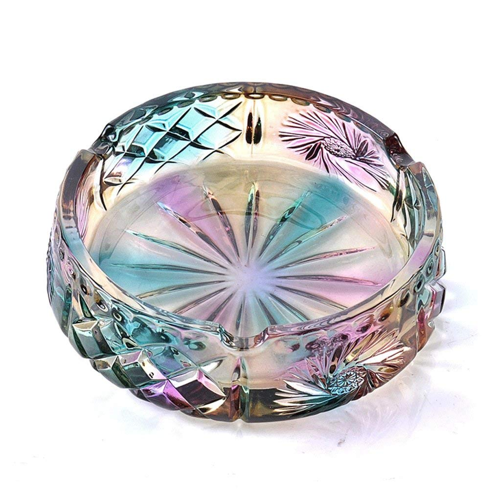 Carl Artbay Ashtray Decoration Decoration Gift Indoor Outdoor Home Living Room Study Office Coffee Table Bar Hotel Practical Color Lead Free Glass Ashtray (Size : Square) Household Products