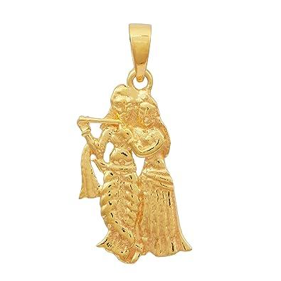 Buy shine jewel 925 sterling silver radhe krishna gold plated shine jewel 925 sterling silver radhe krishna gold plated pendant aloadofball Choice Image