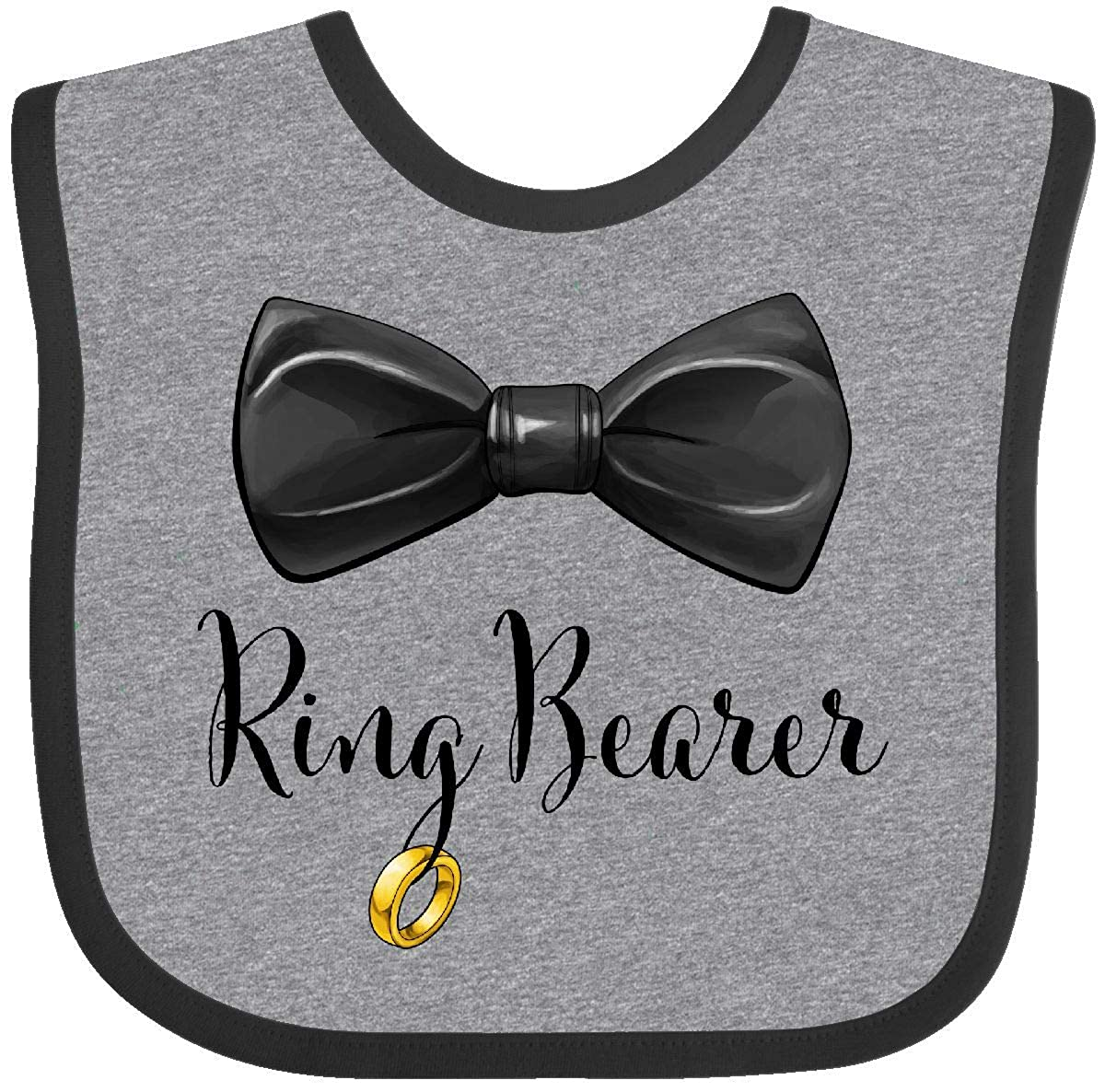 Inktastic - Ring Bearer- black bow tie Baby Bib 2ff56 14-196438-116-887-2987
