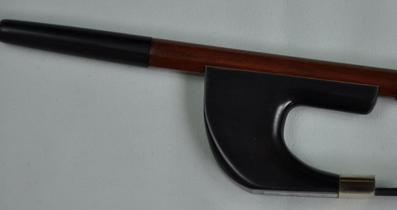 New German Pernambuco Double Bass Bow Ebony Frog Silver mounted 4/4 Baike F39
