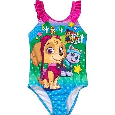023e102ce1d72 Amazon.com  Paw Patrol Girls Swimwear Swimsuit (Toddler Little Kid ...