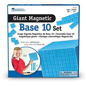 Amazon.com: Learning Resources Giant Magnetic Base Ten: Office ...
