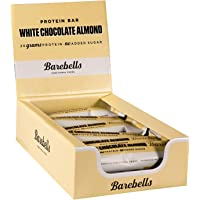 Barebells White Chocolate Almond High Protein and Low Carb Bar, 12 x 55g (1,94 oz) Low Sugar Snack Protein Bar with 20g…