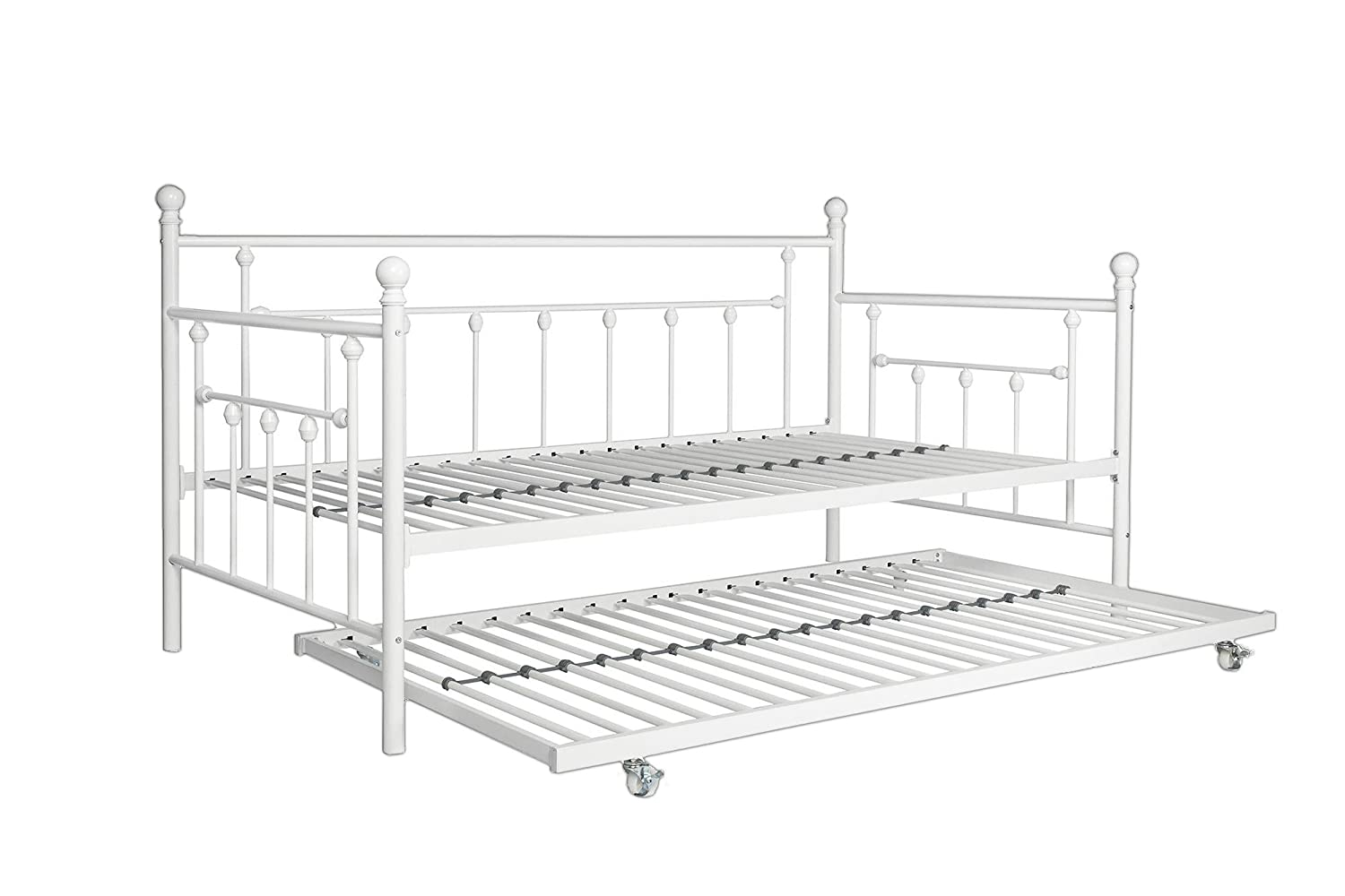 Dhp Manila Metal Framed Daybed With Trundle Twin White Ebay