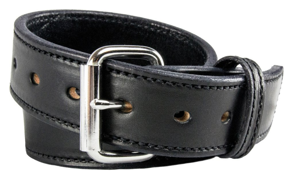 Relentless Tactical The Ultimate Concealed Carry CCW Leather Gun Belt - 2016 Model - New and Improved - 14 Ounce 1 1/2 inch Premium Full Grain Leather Belt - Handmade in The USA! Black Size 44 by Relentless Tactical (Image #1)