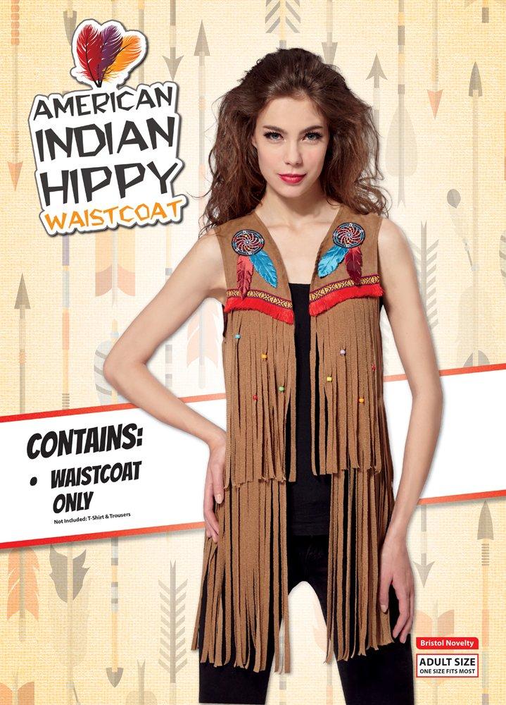 Reino Unido 10/ /14 Bristol Novelty af030//indio Hippy chaleco se/ñoras