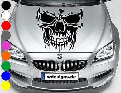 Wdesigns Autoaufkleber Totenkopf Skelett Skull Aufkleber Motorhaube Sticker Heckscheibe Schwarz