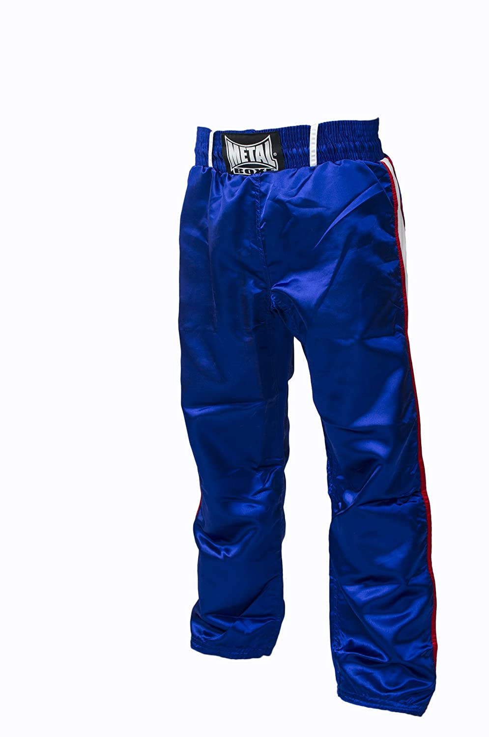 Metal Boxe - Pantalon de full contact (Blanc, 110)