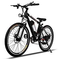 mymotto E-Bike E Mountainbike 26 Zoll Elektrofahrrad Elektro Fahrrad 250W 36V mit Kapazität Lithium-Akku E-Mountainbike bis 35km/h LED-Anzeige (DE Lager)